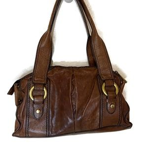 Fossil fifty four genuine leather purse brown